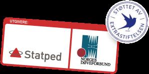 logo statped, og Norges Døveforbund